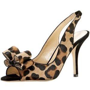 Kate Spade Chariot Slingback Leopard Print Heels